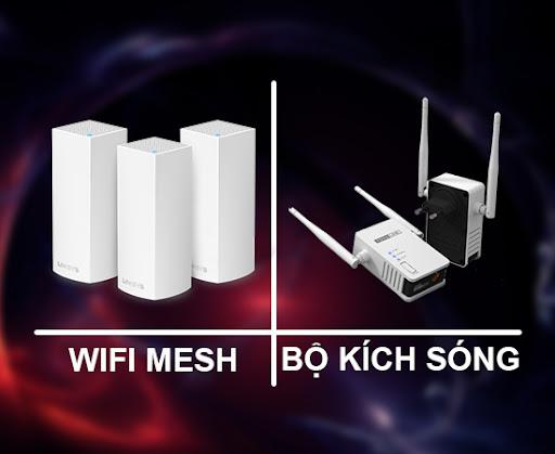Công nghệ Wifi mesh có gì khác so với các thiết bị kích sóng?